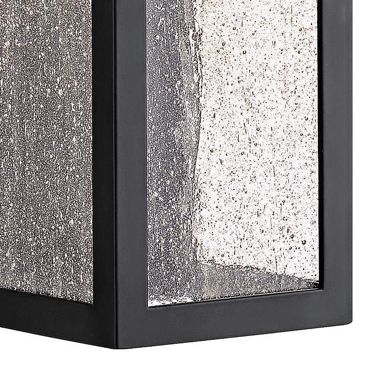 "Hinkley Rook 15"" High Satin Black LED Outdoor Wall Light more views"