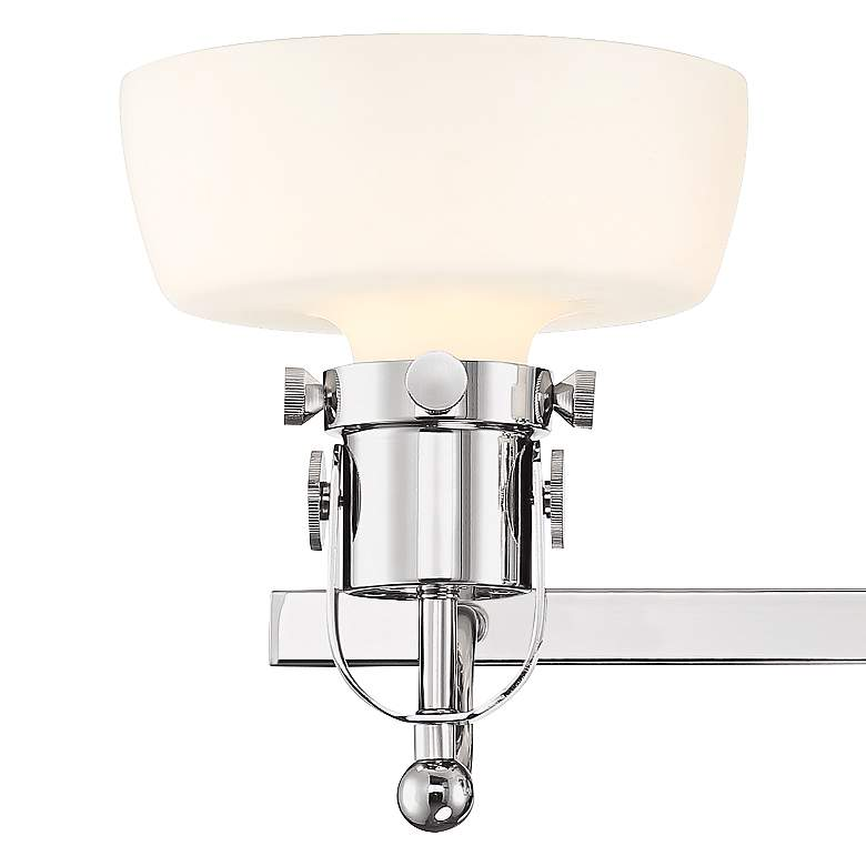 "Possini Euro Fella 26 3/4"" Wide Polished Nickel Bath Light more views"