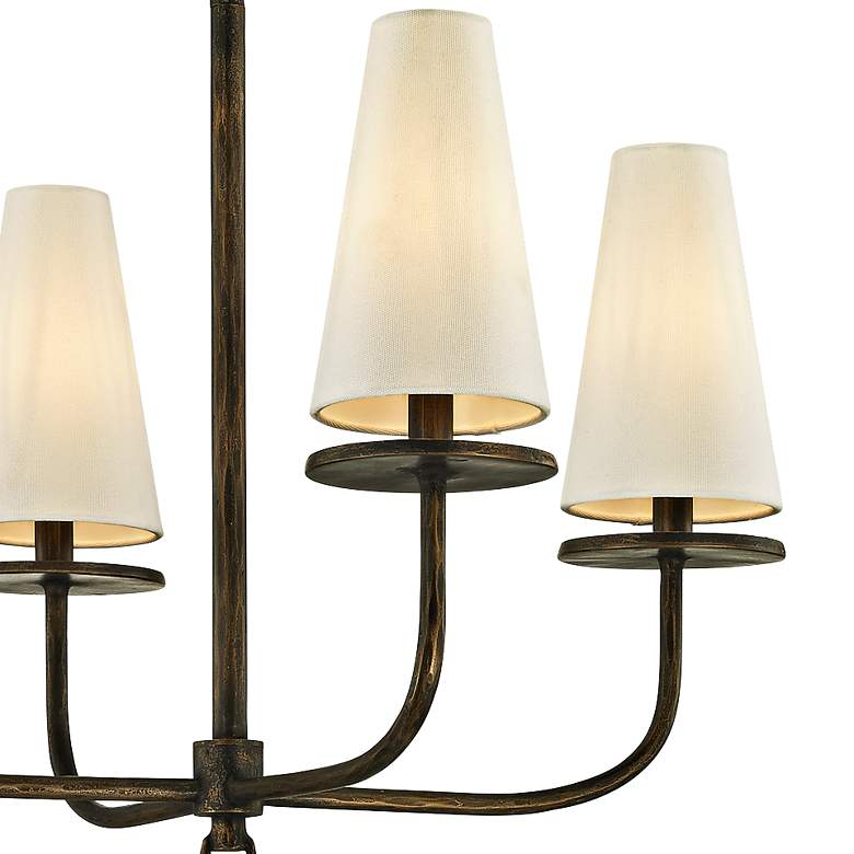 "Marcel 26"" Wide Pompeii Bronze 4-Light Chandelier more views"