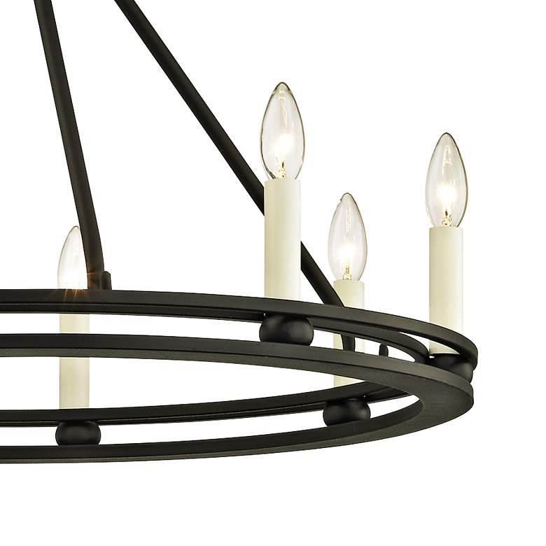 "Sutton 27 1/2"" Wide Textured Black 8-Light Chandelier more views"
