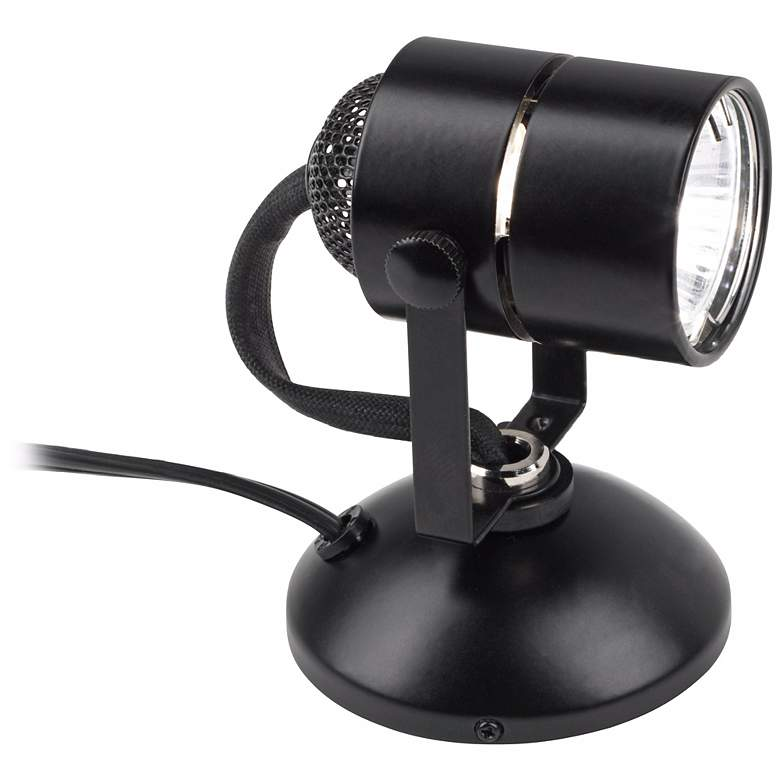 "Lil Wonder 4"" High Black Finish Mini Halogen Upllight more views"