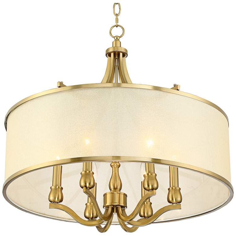 "Possini Euro Sydney 25""W Warm Antique Brass Pendant Light more views"