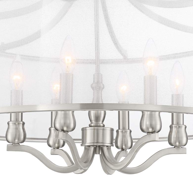 "Possini Euro Sydney 25"" Wide Brushed Nickel 6-Light Pendant more views"