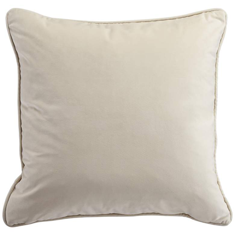 "Ivory Cut Velvet 20"" Square Throw Pillow more views"