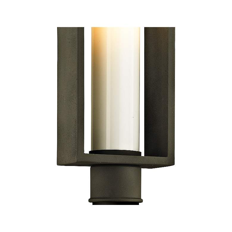 "Mondrian 20 1/4"" High Textured Bronze Outdoor Post Light more views"