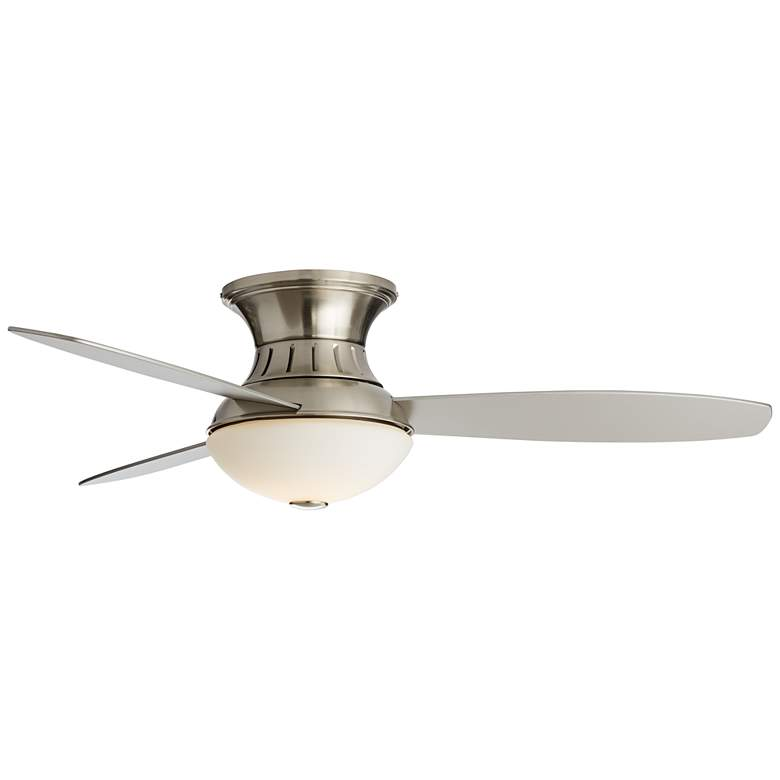 "52"" Possini Euro Brushed Nickel Hugger LED Ceiling Fan more views"