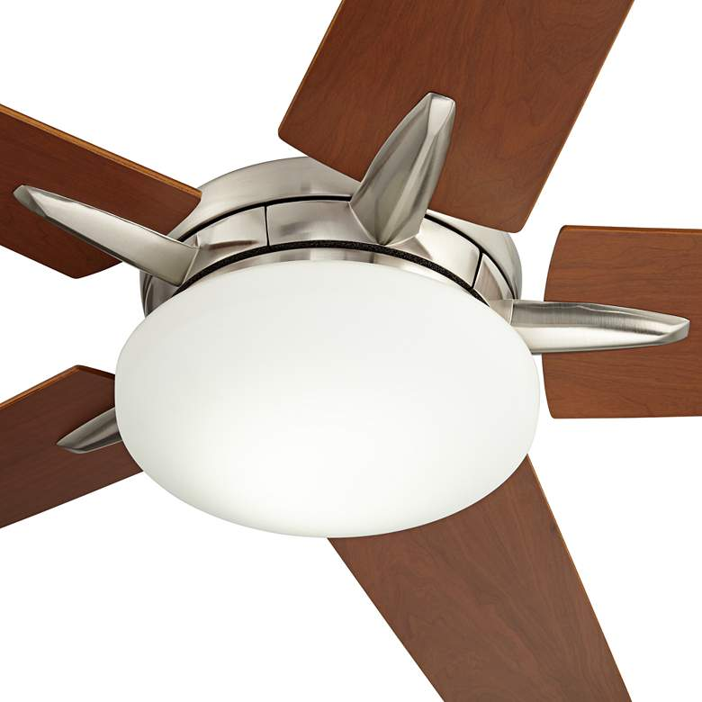 "56"" Casa Endeavor® Nickel Cherry Teak LED Ceiling Fan more views"