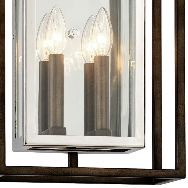 "Morgan 17""H Bronze and Polished Stainless Outdoor Wall Light more views"
