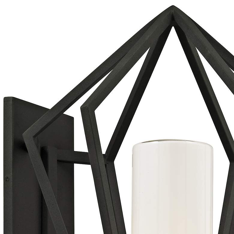 "Whitley Heights 19"" High Textured Black Outdoor Wall Light more views"