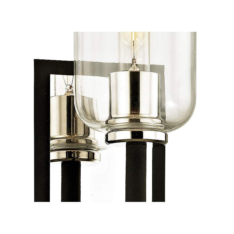 "Aeon 19 3/4""H Carbide Black and Polished Nickel Wall Sconce more views"
