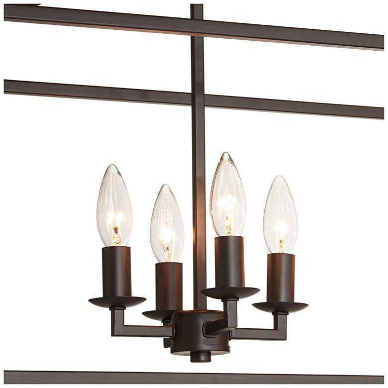 "Madison 36"" Wide Bronze 8-Light Kitchen Island Light Pendant more views"