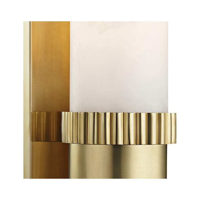 "Hudson Valley Argon 15"" High Aged Brass LED Wall Sconce more views"