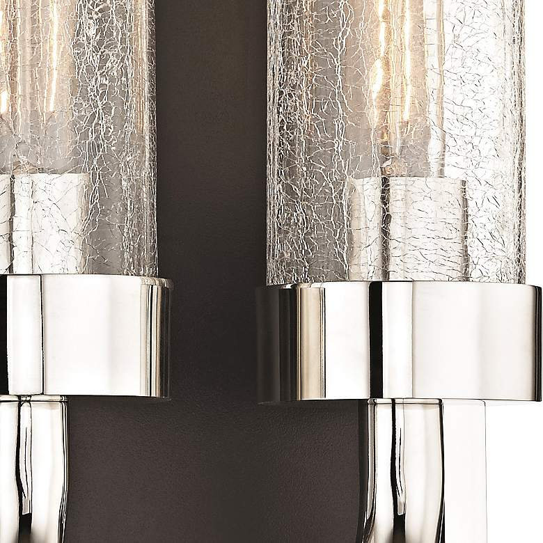 "Soriano 16 3/4"" High Polished Nickel 2-Light Wall Sconce more views"