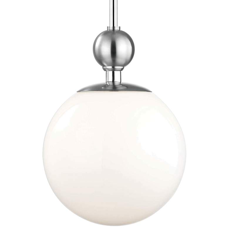 "Mitzi Daphne 10 1/2"" Wide Polished Nickel Mini Pendant more views"