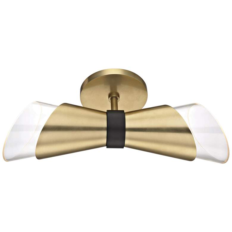 "Mitzi Angie 15"" High Aged Brass 2-Light LED Wall Sconce more views"