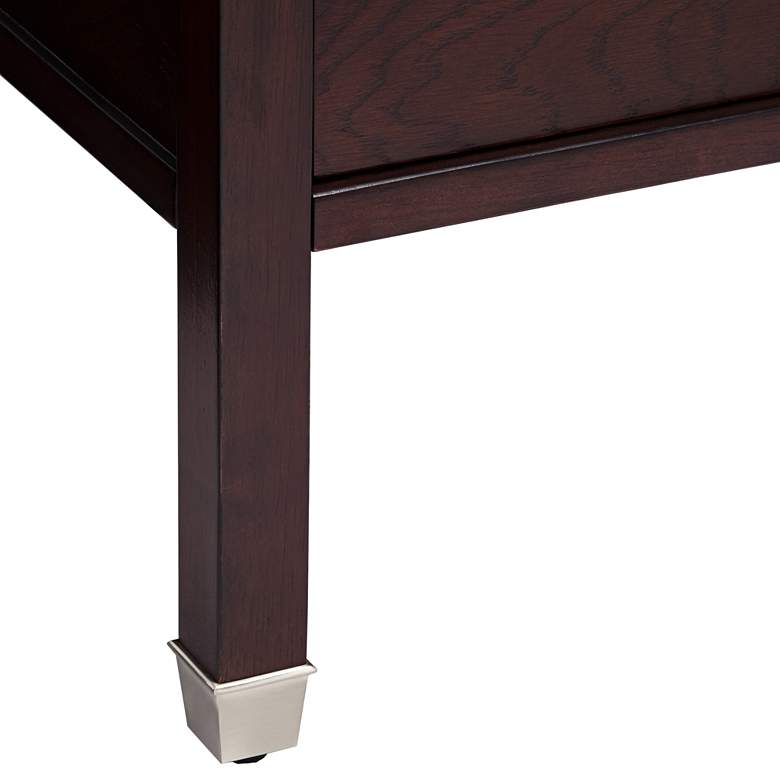 "Huntley Espresso 15 1/4"" Wide Narrow Chairside Accent Table more views"