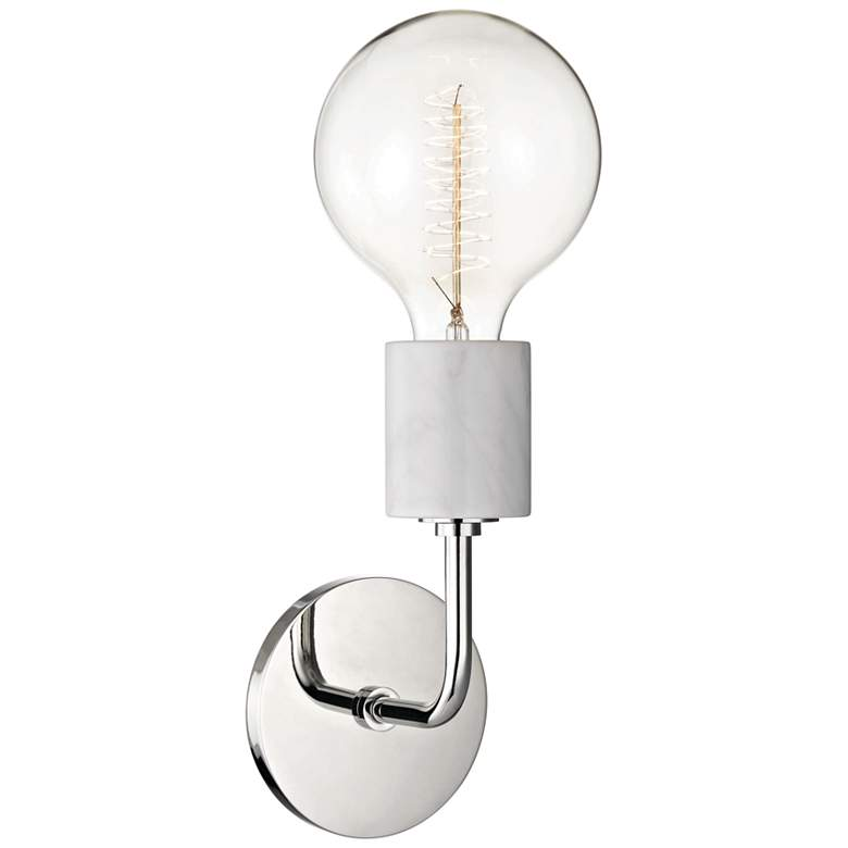 "Mitzi Asime 14 1/2"" High Polished Nickel Wall Sconce more views"