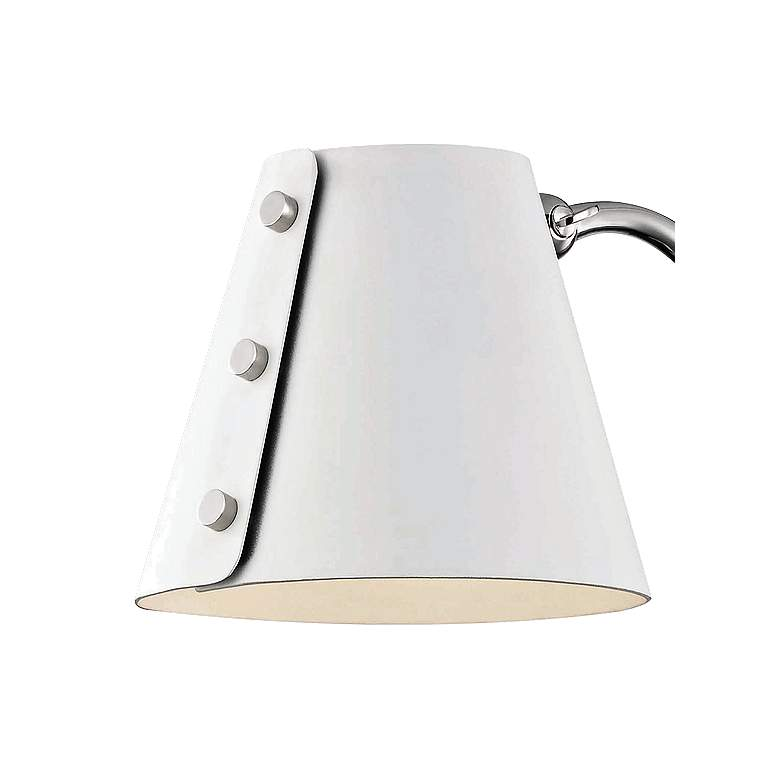Mitzi Meta Polished Nickel and White LED Swing Arm Wall Lamp more views