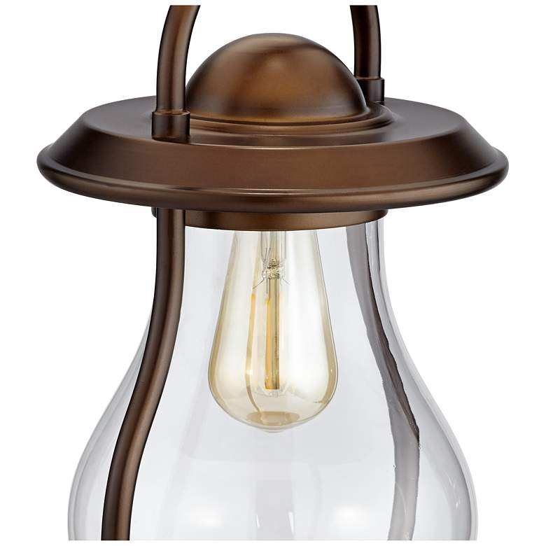 Fredrik Bronze Industrial Lantern Night Light Table Lamp more views