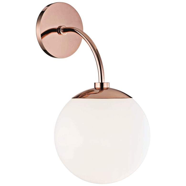 "Mitzi Carrie 14 3/4"" High Polished Copper Wall Sconce more views"