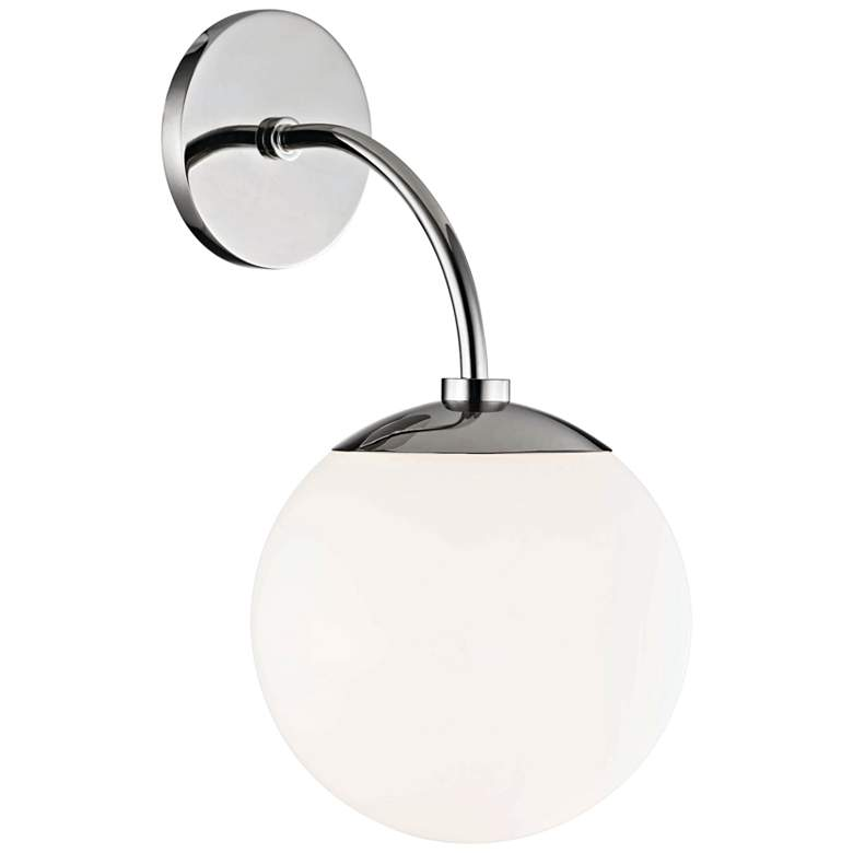 "Mitzi Carrie 14 3/4"" High Polished Nickel Wall Sconce more views"