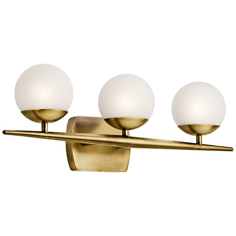 "Jasper 24 1/2"" Wide Natural Brass 3-Light Halogen Bath Light more views"