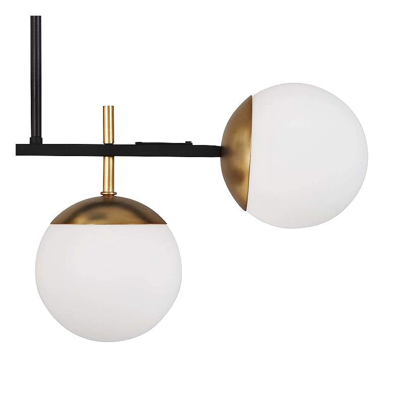 "Alluria 36"" Wide Black and Gold Kitchen Island Light Pendant more views"
