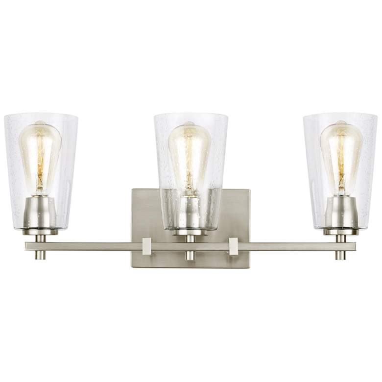 "Feiss Mercer 21 1/2"" Wide Satin Nickel 3-Light Bath Light more views"