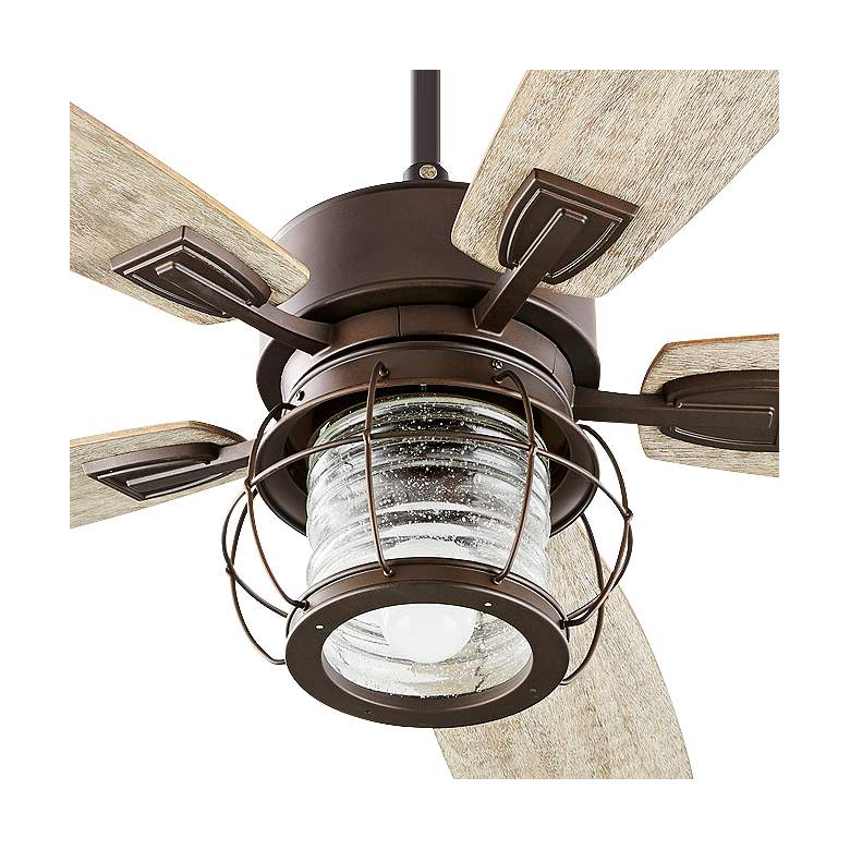 "52"" Quorum Galveston Oiled Bronze Ceiling Fan more views"