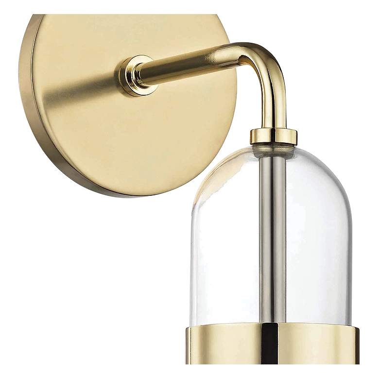 "Mitzi Emilia 15"" High Polished Brass LED Wall Sconce more views"