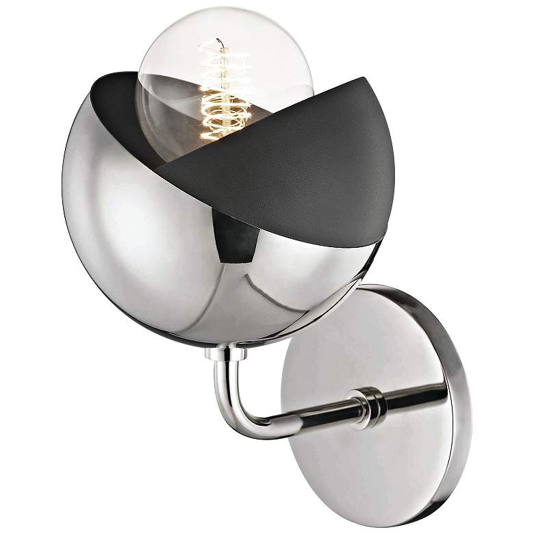 "Mitzi Emma 8 3/4"" High Polished Nickel Wall Sconce more views"