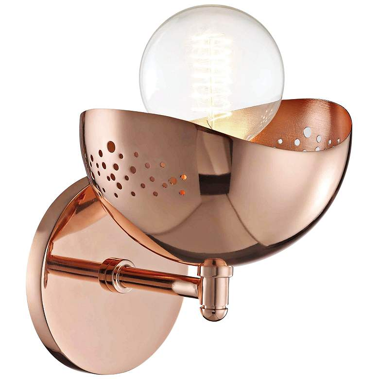 "Mitzi Heidi 8 1/2"" High Polished Copper Wall Sconce more views"