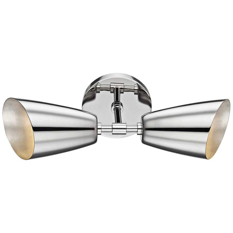 "Mitzi Kai 15"" High Polished Nickel 2-Light LED Wall Sconce more views"