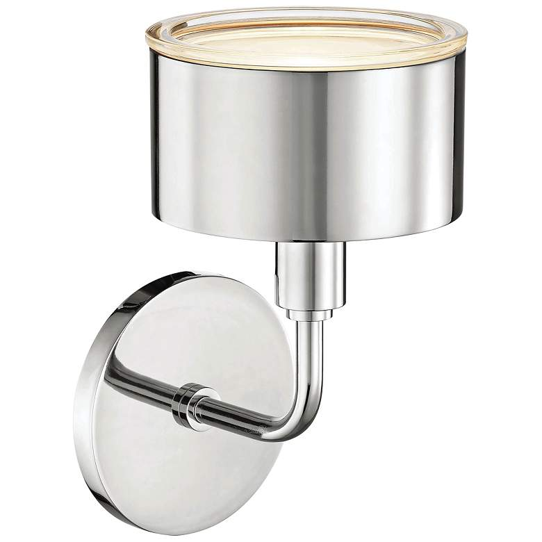 "Mitzi Nora 9"" High Polished Nickel LED Wall Sconce more views"