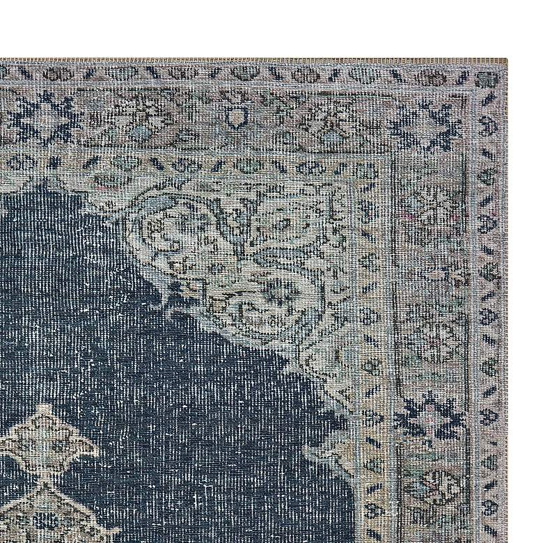 "Sofia 85817 5'3""x7'6"" Blue and Gray Area Rug more views"