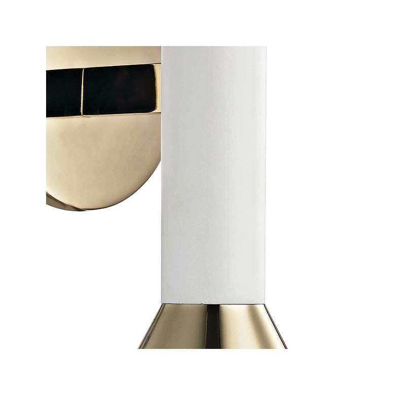 "Mitzi Via 17 1/2""H Polished Brass and White Wall Sconce more views"