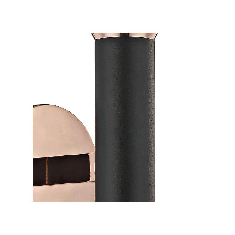 "Mitzi Via 17 1/2""H Polished Copper and Black Wall Sconce more views"