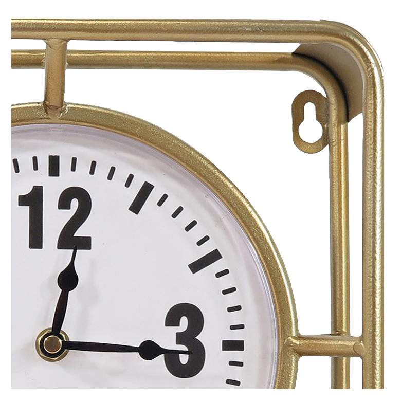 "Forward Timing Gold 10"" Square Table Clock more views"