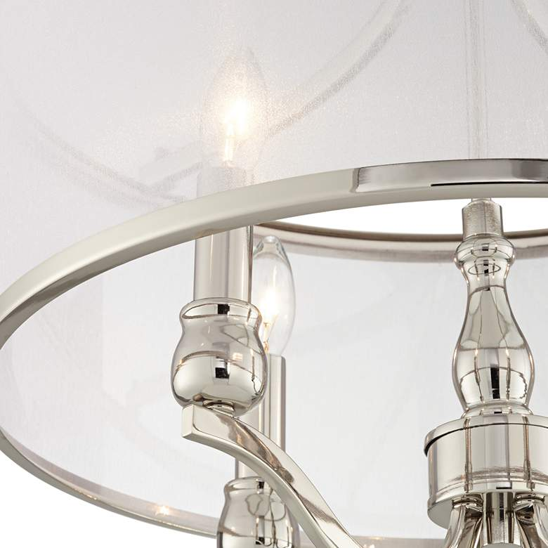 "Nor 18"" Wide Polished Nickel Traditional Ceiling Light more views"