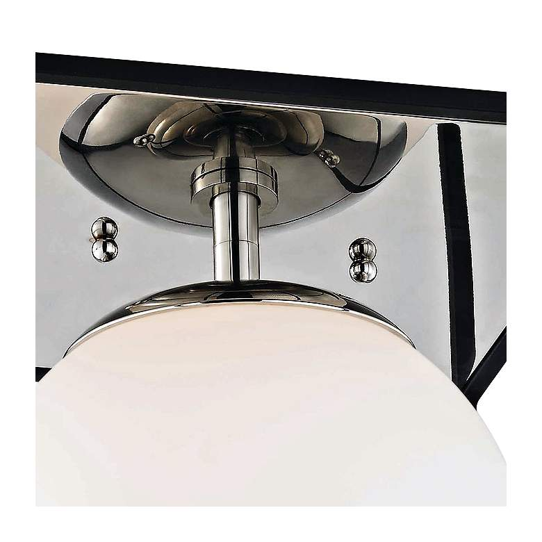 "Mitzi Aira 9 1/2"" Wide Polished Nickel Ceiling Light more views"