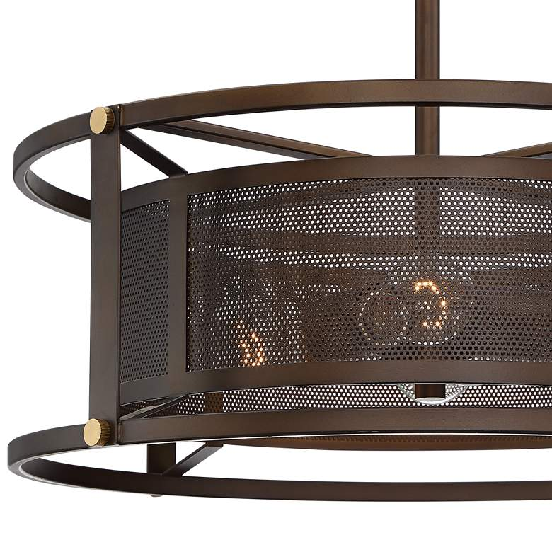 "Derek 20"" Wide Oil-Rubbed Bronze 4-Light Pendant more views"