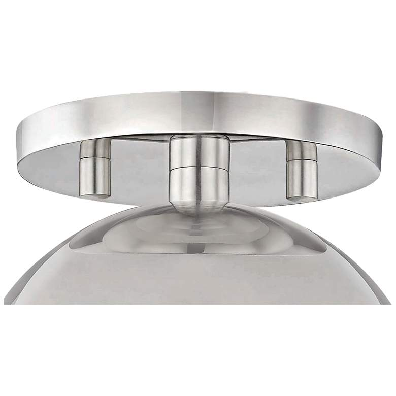 "Mitzi Heidi 5 1/2"" Wide Polished Nickel Ceiling Light more views"