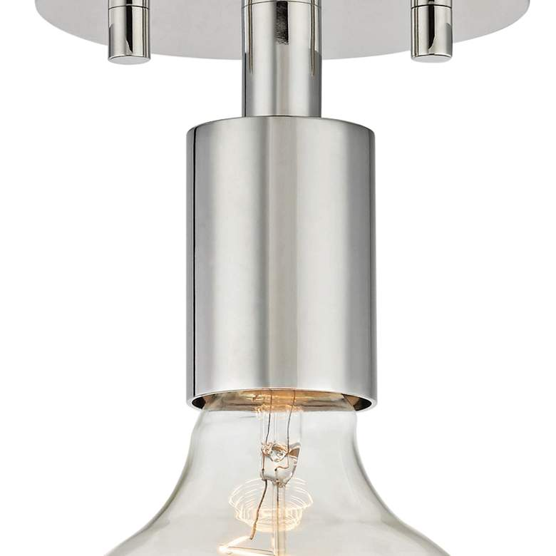 "Mitzi Ava 5"" Wide Polished Nickel Ceiling Light more views"