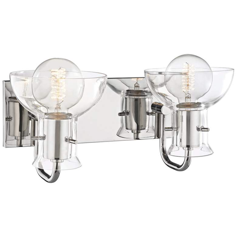 "Mitzi Riley 8"" High Polished Nickel 2-Light Wall Sconce more views"