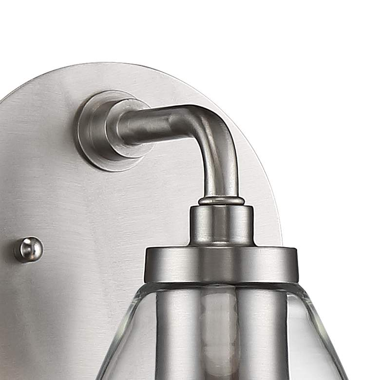 "Possini Euro Raden 10"" High Brushed Nickel Wall Sconce more views"