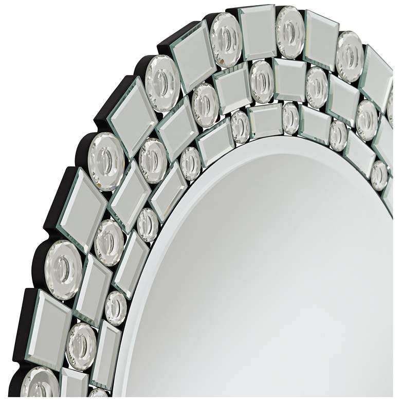"Possini Euro Orleans Bubble Glass 32"" Round Wall Mirror more views"