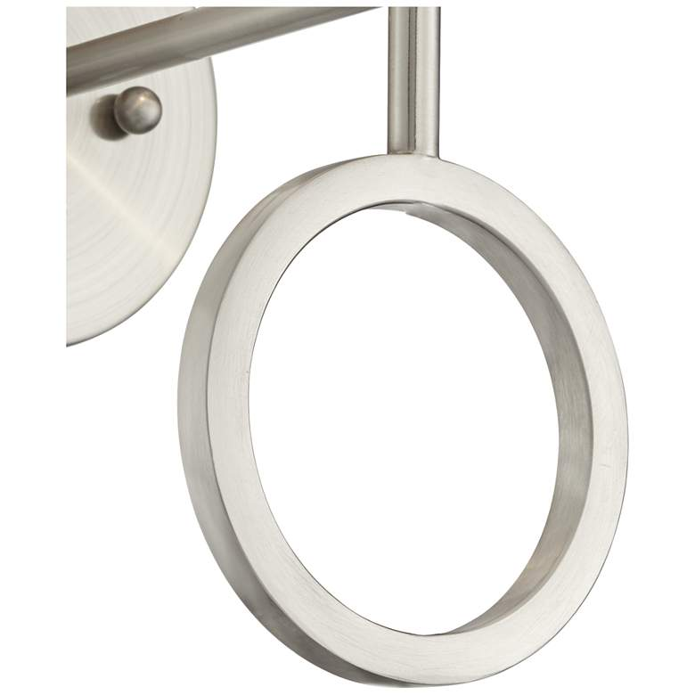Amidon Brushed Nickel Drop Ring Plug-In Wall Lamp more views