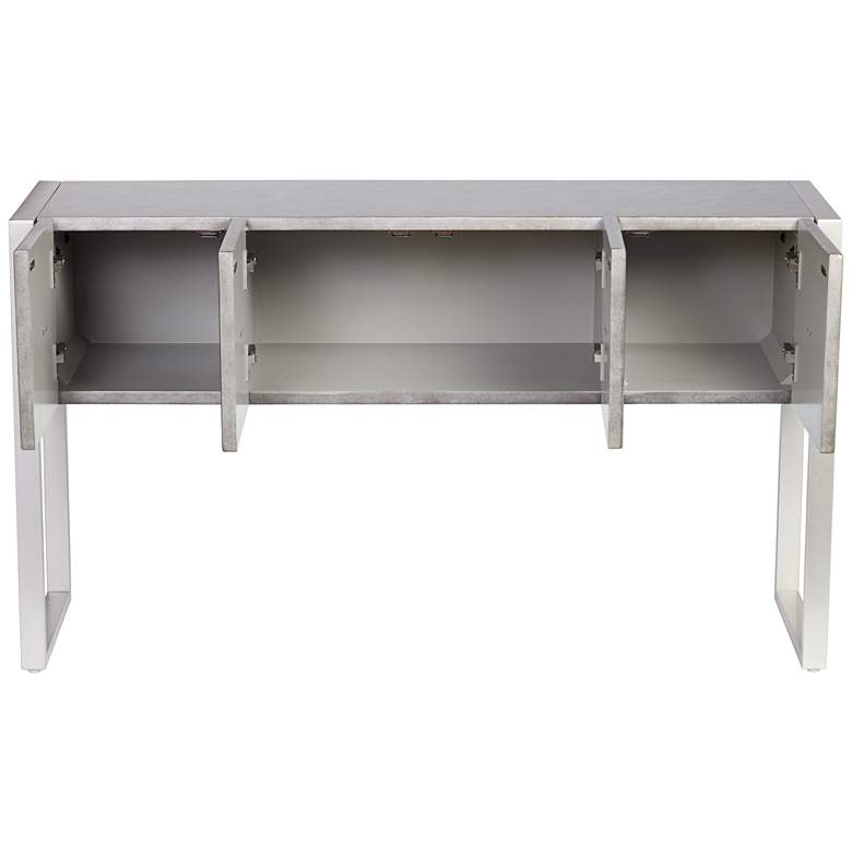"Carrington 51 1/2"" Metallic Painted 4-Door Console Table more views"