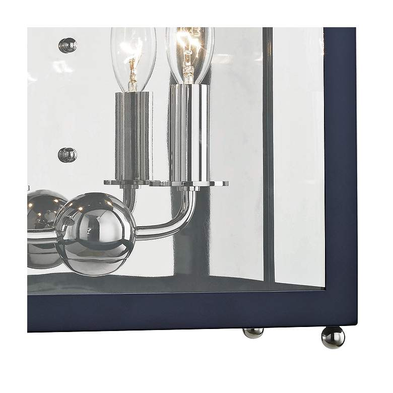 "Mitzi Leigh 18 1/2"" High Nickel and Navy 2-Light Wall Sconce more views"