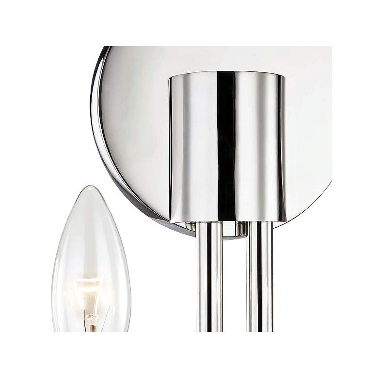 "Mitzi Brigitte 12 1/2""H Polished Nickel 2-Light Wall Sconce more views"